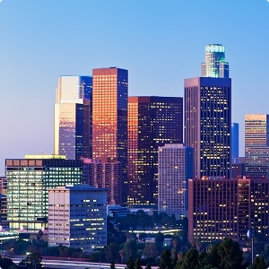 Los Angeles morning light rounded